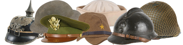 hats of world wars I and II
